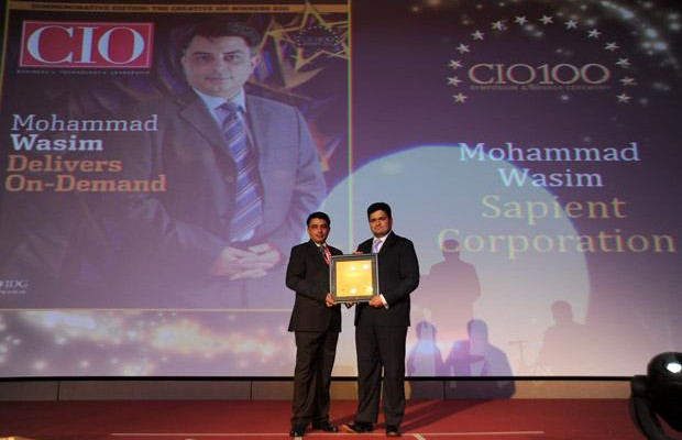 The Creative 100: Mohammad Wasim, Director & Global Infrastructure Lead, Sapient Corporation receives the CIO100 Award for 2011