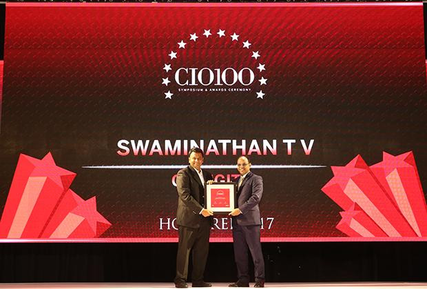 The Digital Innovators: Swaminathan T V, South Asia Regional CIO – GE Digital receives the CIO100 Award for 2017
