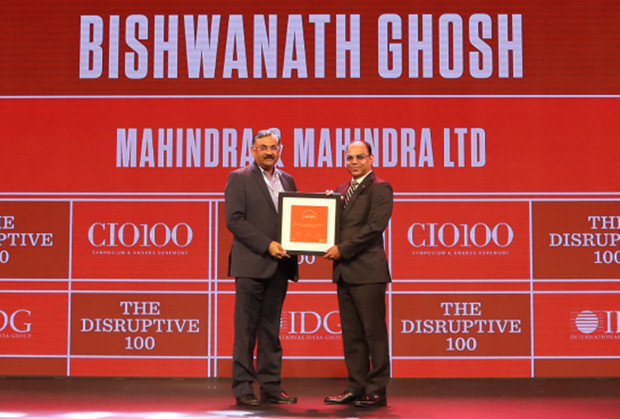 The Disruptive 100: Bishwanath Ghoshm CIO – Enterprise and Corporate Functions, Mahindra & Mahindra receives the CIO100 Award for 2019