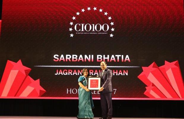 The Digital Innovators: Sarbani Bhatia, Sr. Vice President, Jagran Prakashan receives the CIO100 Award for 2017