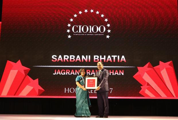 The Digital Innovators: Sarbani Bhatia, Sr. Vice President, Jagran Prakashan receives the CIO100 Award for 2017
