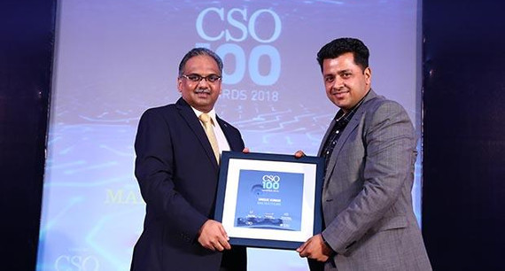 Unique Kumar, Group CISO at Max Healthcare receives the CSO100 Award for 2018