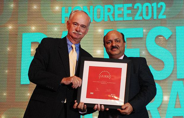 The Resilient 100: Rajesh Chopra, Sr. VP IT of EHI- The Oberoi Hotels & Resorts receives the CIO100 Award for 2012.