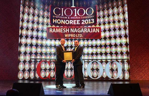 The Astute 100: Ramesh Nagarajan, CIO of Wipro receives the CIO100 Award for 2013