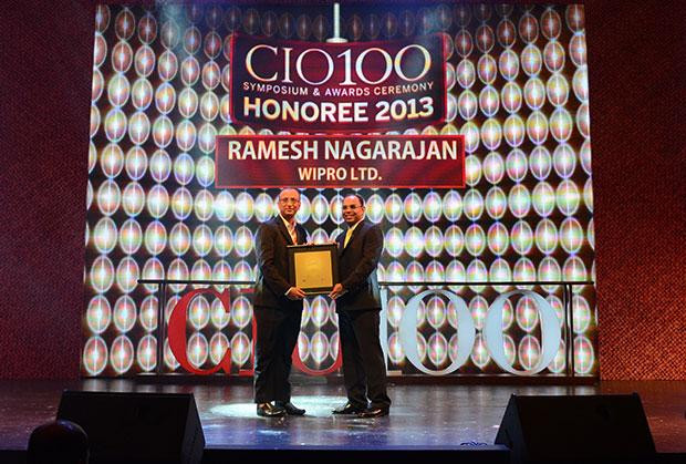 The Astute 100: Ramesh Nagarajan, CIO of Wipro receives the CIO100 Award for 2013