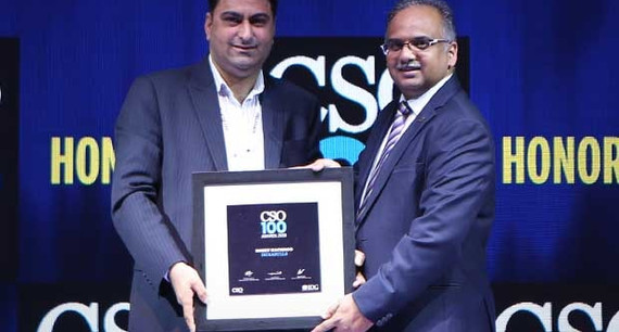 Rohit Kachroo, CISO at Indiabulls Group receives the CSO100 Award for 2019