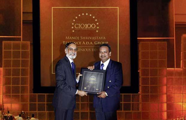 The Ingenious 100: Manoj Shrivastava, VP-Group IT of Reliance Industries receives the CIO100 Award for 2009