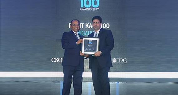 Rohit Kachroo, CISO, Indiabulls Group receives the CSO100 Award for 2017