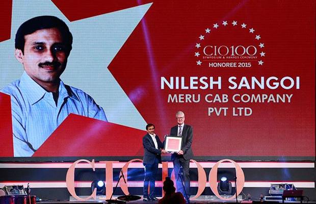 The Versatile 100: Nilesh Sangoi, Meru Cab Company receives the CIO100 Award for 2015