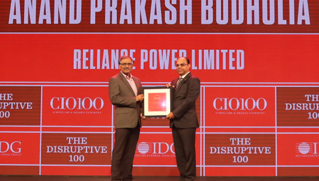 The Disruptive 100: Anand Budholia, Senior VP and CIO, Reliance Power receives the CIO100 Award for 2019