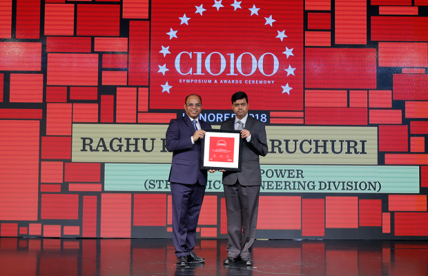 The Digital Architect: Raghu Kumar Paruchuri, Head – IT & Business Applications, Tata Power (Strategic Engineering Division), receives the CIO100 award for 2018