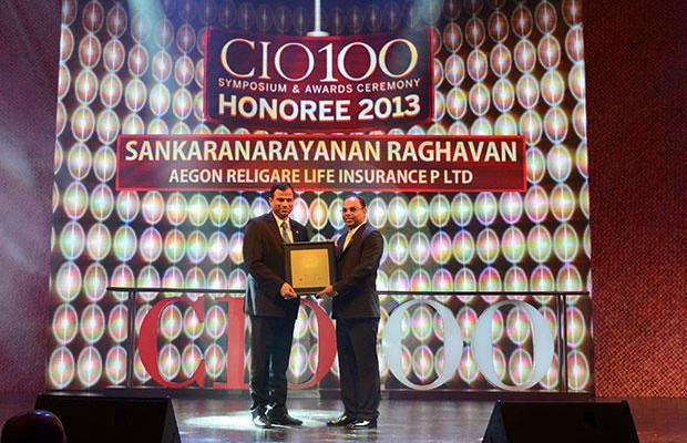 The Astute 100: Sankaranarayanan Raghavan, COO of Aegon Religare Life Insurance receives the CIO100 Award for 2013