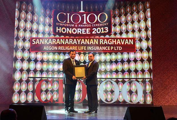 The Astute 100: Sankaranarayanan Raghavan, COO of Aegon Religare Life Insurance receives the CIO100 Award for 2013
