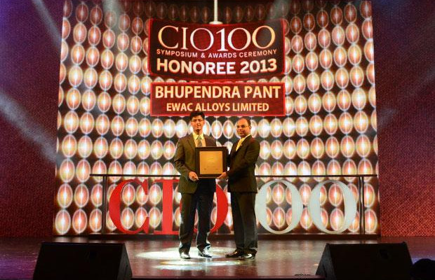 The Astute 100: Bhupendra Pant, HEAD - IT, Larsen & Toubro receives the CIO100 Award for 2013