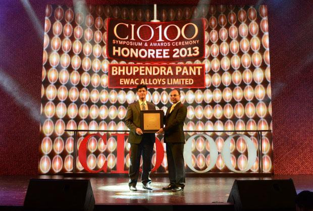 The Astute 100: Bhupendra Pant, HEAD - IT, Larsen & Toubro receives the CIO100 Award for 2013