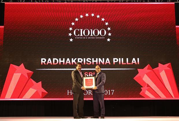 The Digital Innovators: Radhakrishna Pillai, CIO of SRL receives the CIO100 Award for 2017