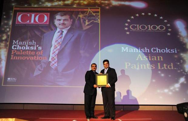 The Creative 100: Manish Choksi, President-IT of Asian Paints India receives the CIO100 Award for 2011