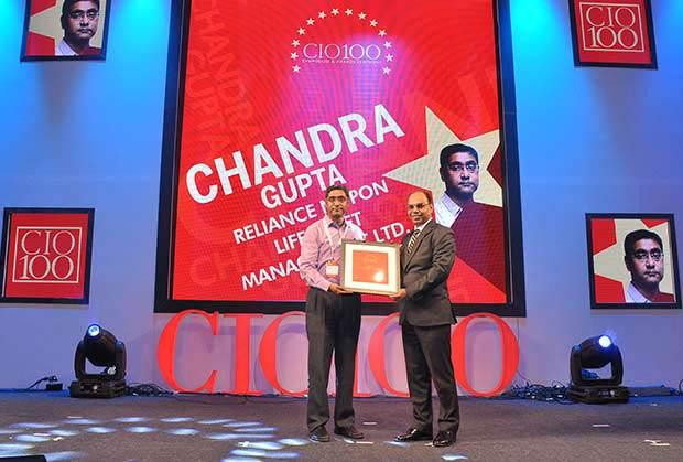 The Transformative 100: Chandra Gupta, CTO at Reliance Nippon Life Asset Management receives the CIO100 Award for 2016