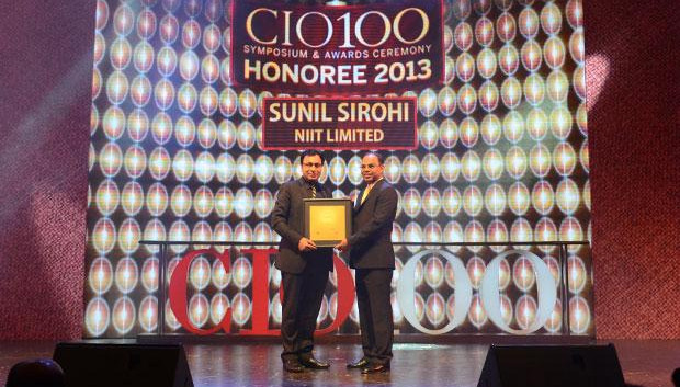 The Astute 100: Sunil Sirohi, Sr. VP - IT of NIIT receives the CIO100 Award for 2013