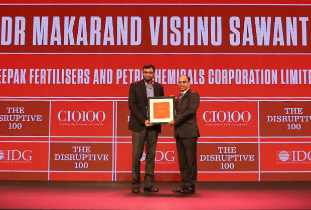 The Disruptive 100: Dr. Makarand V. Sawant, Senior General Manager – IT at Deepak Fertilisers And Petrochemicals Corporation receives the CIO100 Award for 2019