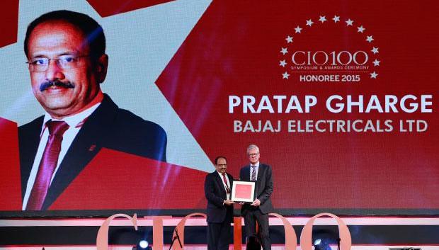 The Versatile 100: Pratap S Gharge, President and CIO of Bajaj Electricals receives the CIO100 Award for 2015.
