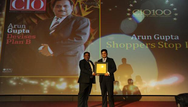 The Creative 100: Arun O Gupta, Group CTO of Shoppers Stop receives the CIO100 Award for 2011
