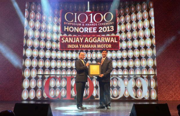 The Astute 100: Sanjay Aggarwal, CTO of Yamaha Motor Solutions receives the CIO100 Award for 2013