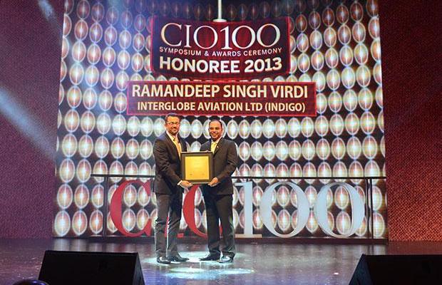 The Astute 100: Ramandeep Singh Virdi, VP IT, Interglobe Enterprises receives the CIO100 Award for 2013