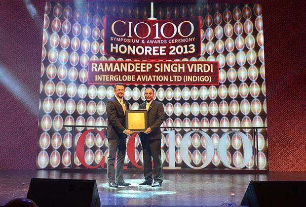 The Astute 100: Ramandeep Singh Virdi, VP IT, Interglobe Enterprises receives the CIO100 Award for 2013