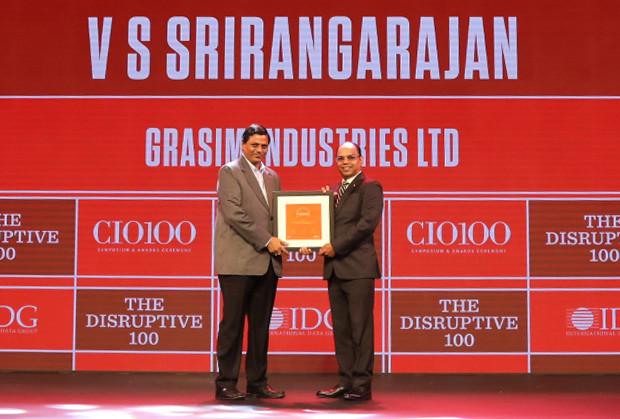 The Disruptive 100: VS Srirangarajan, CIO, Grasim Industries receives the CIO100 Award for 2019