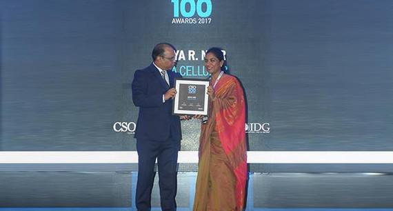 Maya R Nair, Head-IS at Idea Cellular receives the CSO100 Award for 2017