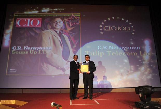 The Creative 100: C R Narayanan, CIO of Tulip Telecom receives the CIO100 Award for 2011