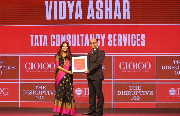 The Disruptive 100: Vidya Ashar, Global Head-Talent Management, Tata Consultancy Services receives the CIO100 Award for 2019