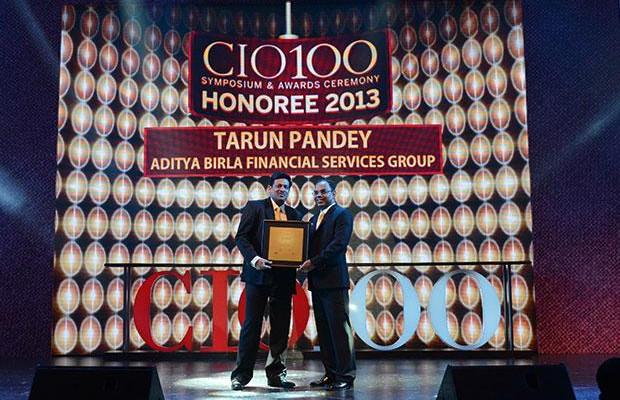 The Astute 100: Tarun Pandey, Senior VP-IT of Aditya Birla Financial receives the CIO100 Award for 2013