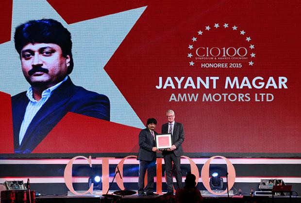 The Versatile 100: Jayant Magar, VP-IT and Group CIO of AMW Motors receives the CIO100 Award for 2015