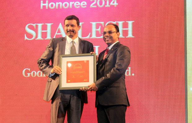 The Dynamic 100: Shailesh Joshi, VP-Head IT, Godrej Industries receives the CIO100 Award for 2014