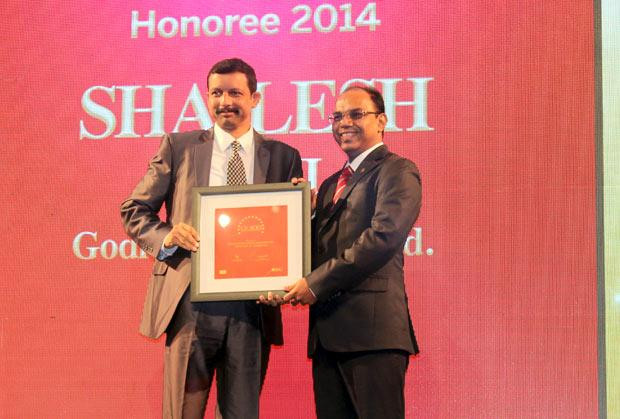 The Dynamic 100: Shailesh Joshi, VP-Head IT, Godrej Industries receives the CIO100 Award for 2014