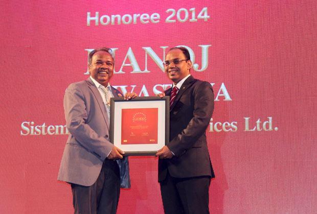 The Dynamic 100: Manoj Shrivastava, Director-IT of Sistema Shyam Teleservices receives the CIO100 Award for 2014