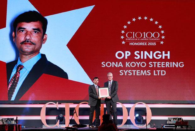The Versatile 100: OP Singh, CIO of Sona Koyo Steering Systems receives the CIO100 Award for 2015