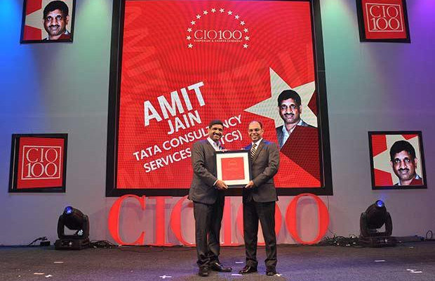The Transformative 100: Amit Jain, Global Head-Infrastructure Services of Tata Consultancy Services receives the CIO100 Award for 2016