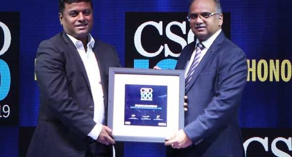 Sharad Sadadekar, Senior Vice President and CISO of HDFC Life Insurance receives the CSO100 Award for 2019