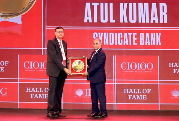 Hall of Fame: Atul Kumar, CIO, Syndicate Bank receives the CIO100 Special Award for 2019