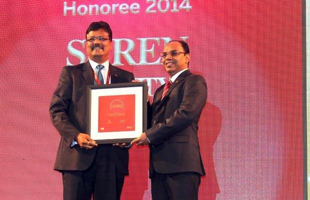 The Dynamic 100: Surendra Shetty, Sr. President & CIO of Yes Bank receives the CIO100 Award for 2014