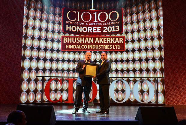 The Astute 100: Bhushan Akerkar, CIO of Hindalco Industries receives the CIO100 Award for 2013