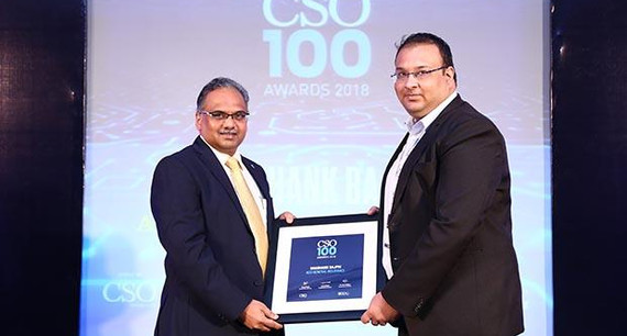Shashank Bajpai, CISO of ACKO General Insurance receives CSO100 Award for 2018