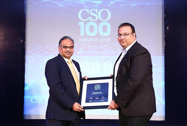Shashank Bajpai, CISO of ACKO General Insurance receives CSO100 Award for 2018