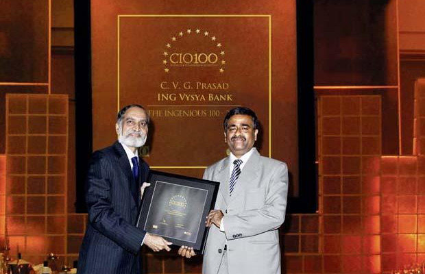 The Ingenious 100: C V G Prasad, CIO, ING Vysya Bank receives CIO100 Award for 2009