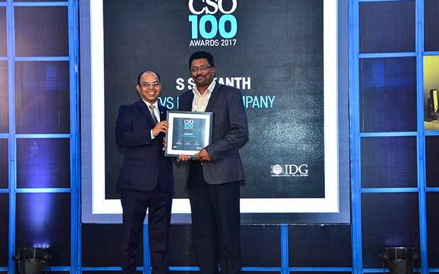 S Srikanth, CISO at TVS Motor Company receives CSO100 Award for 2017