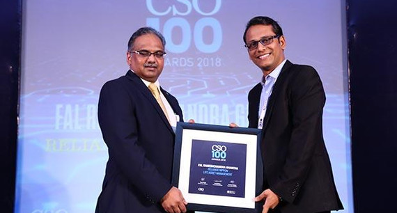 Fal Rameshchandra Ghancha, Business Information Security Officer of Reliance Nippon Life Asset Management receives the CSO100 Award for 2018