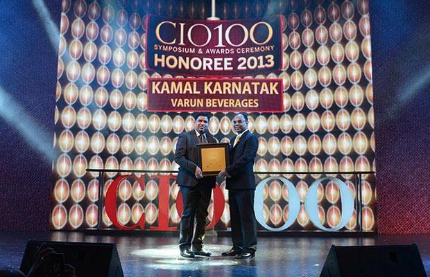 The Astute 100: Kamal Karnatak, Senior VP and Group CIO of R J Corporation receives the CIO100 Award for 2013
